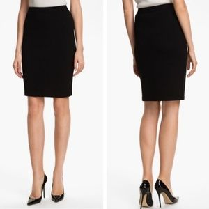 St. John Basics Santana Knit Black Pencil Skirt